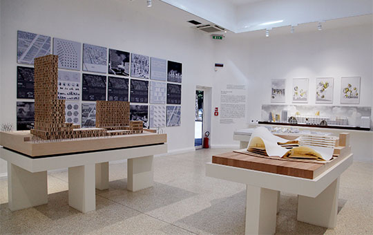 View of Riverfront Post Office Gallery, 2016, Venice Architecture Biennale, Venice, Italy. Photo: Salam Rida
