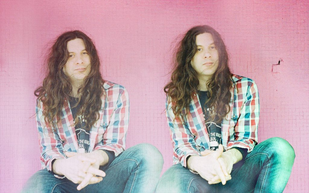 Two images of Kurt Vile side by side