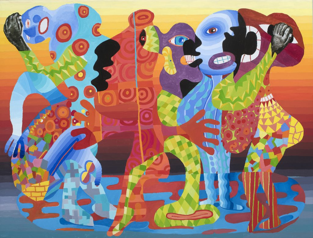 Peter Williams, The Sudanese Market (2019). Oil on canvas, 72 x 96 in. Courtesy of the artist and the Pizzuti Collection.