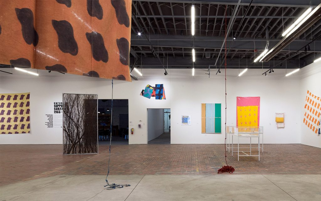 Installation view of exhibition Unfurled: Supports Surface 1966-1976 at MOCAD 2019