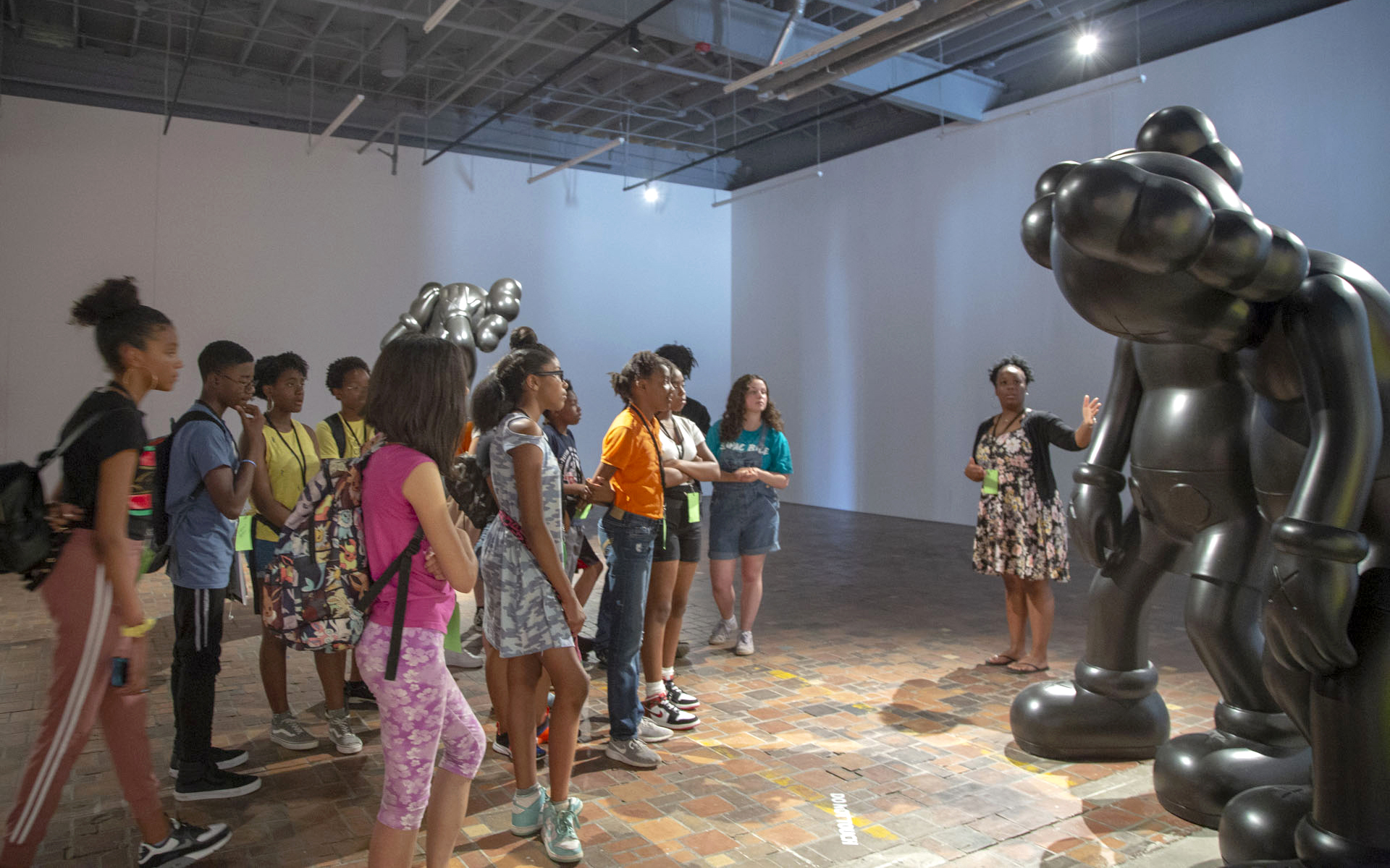 Youth tour of the exhibition KAWS: ALONE AGAIN at MOCAD, 2019